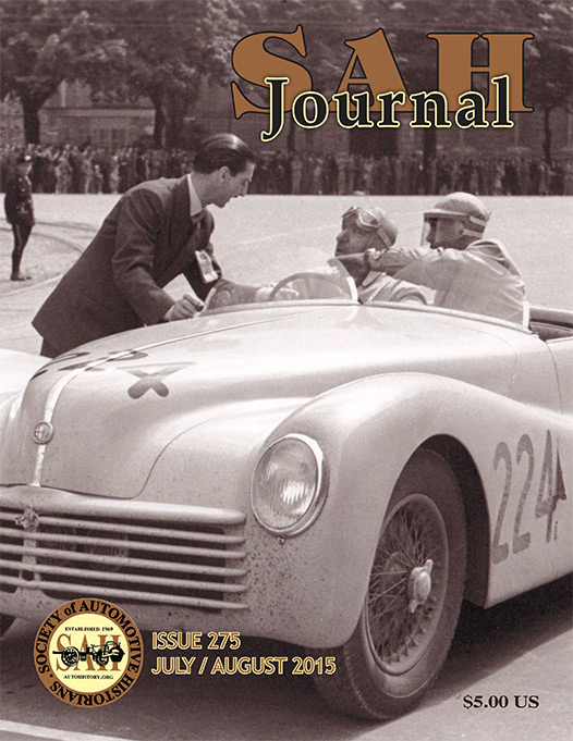 SAH Journal cover story by David Cooper about the 1943 Alfa Romeo